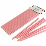 Kağıt Pipet Pembe Renk 25 Adet